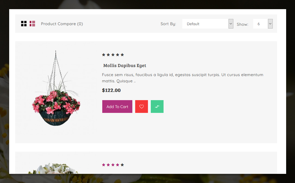 Flowery 3 Store OpenCart Template