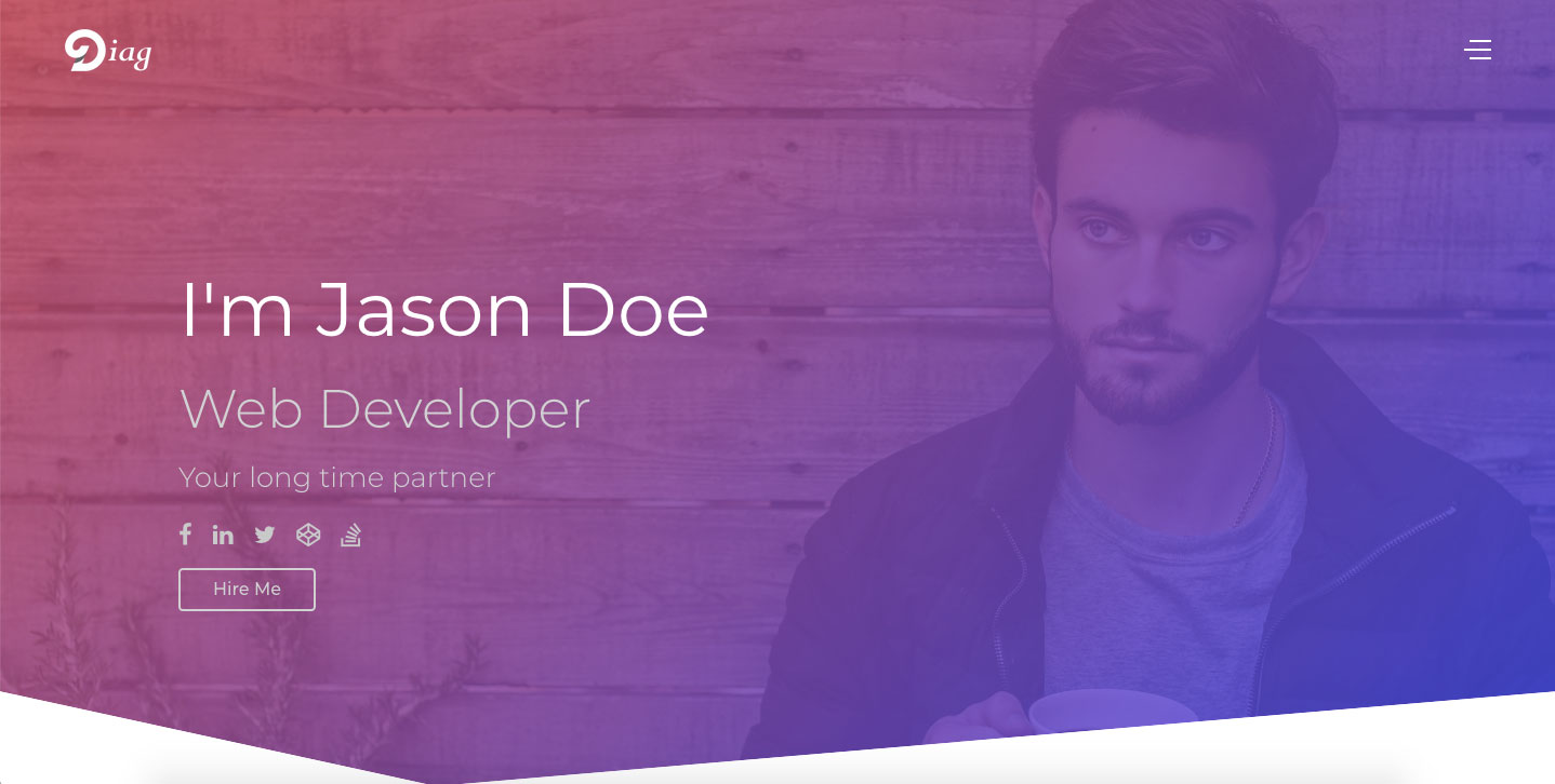 Diag - Personal Portfolio Website Template