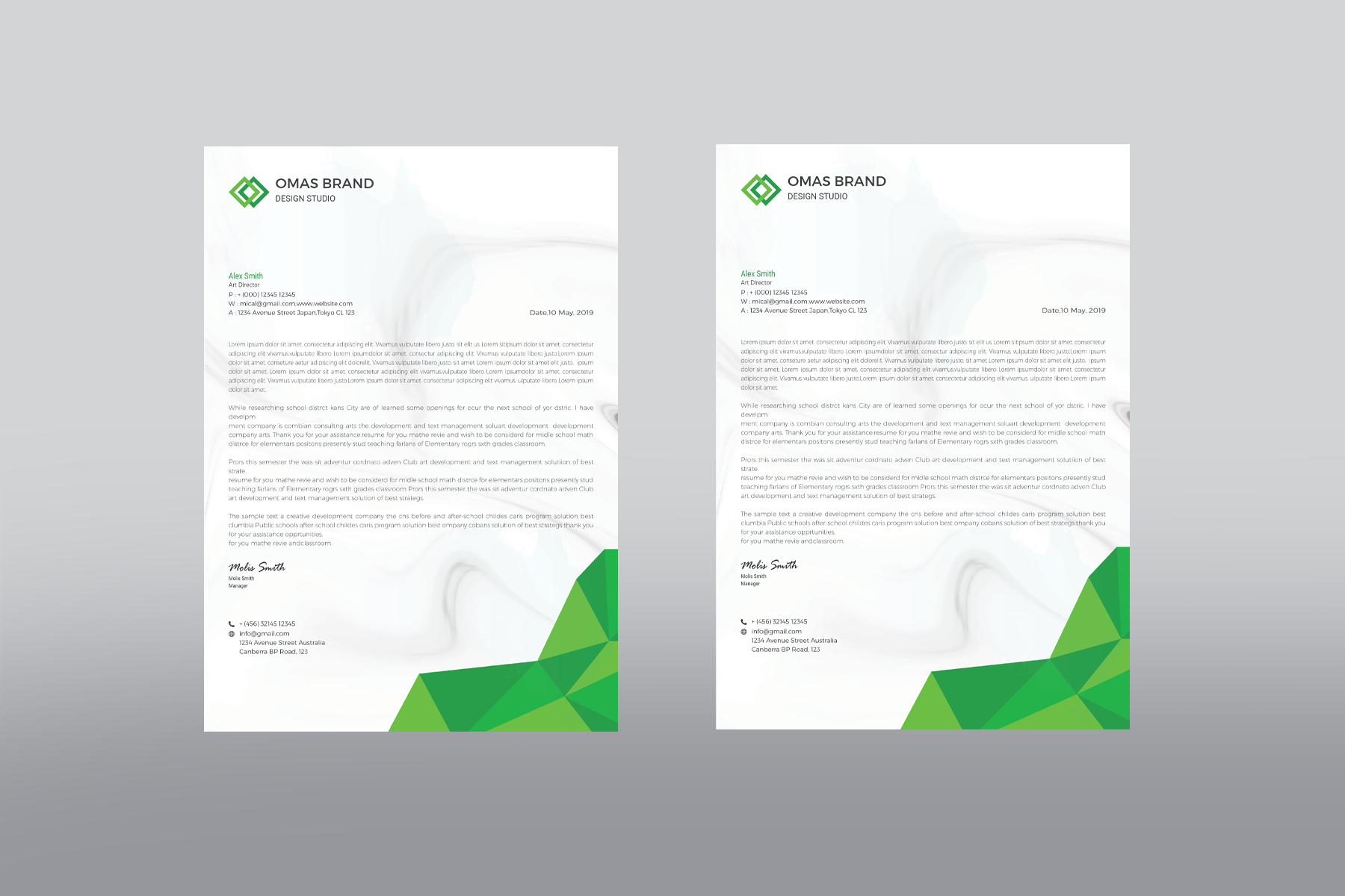 Omas Letterhead Corporate Identity