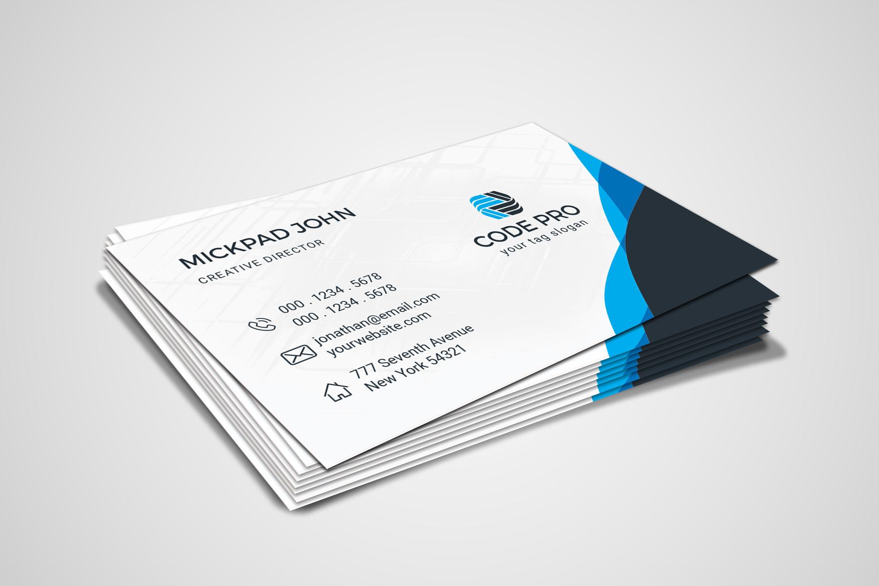 Code Pro Business Card vol. 1 Corporate Identity