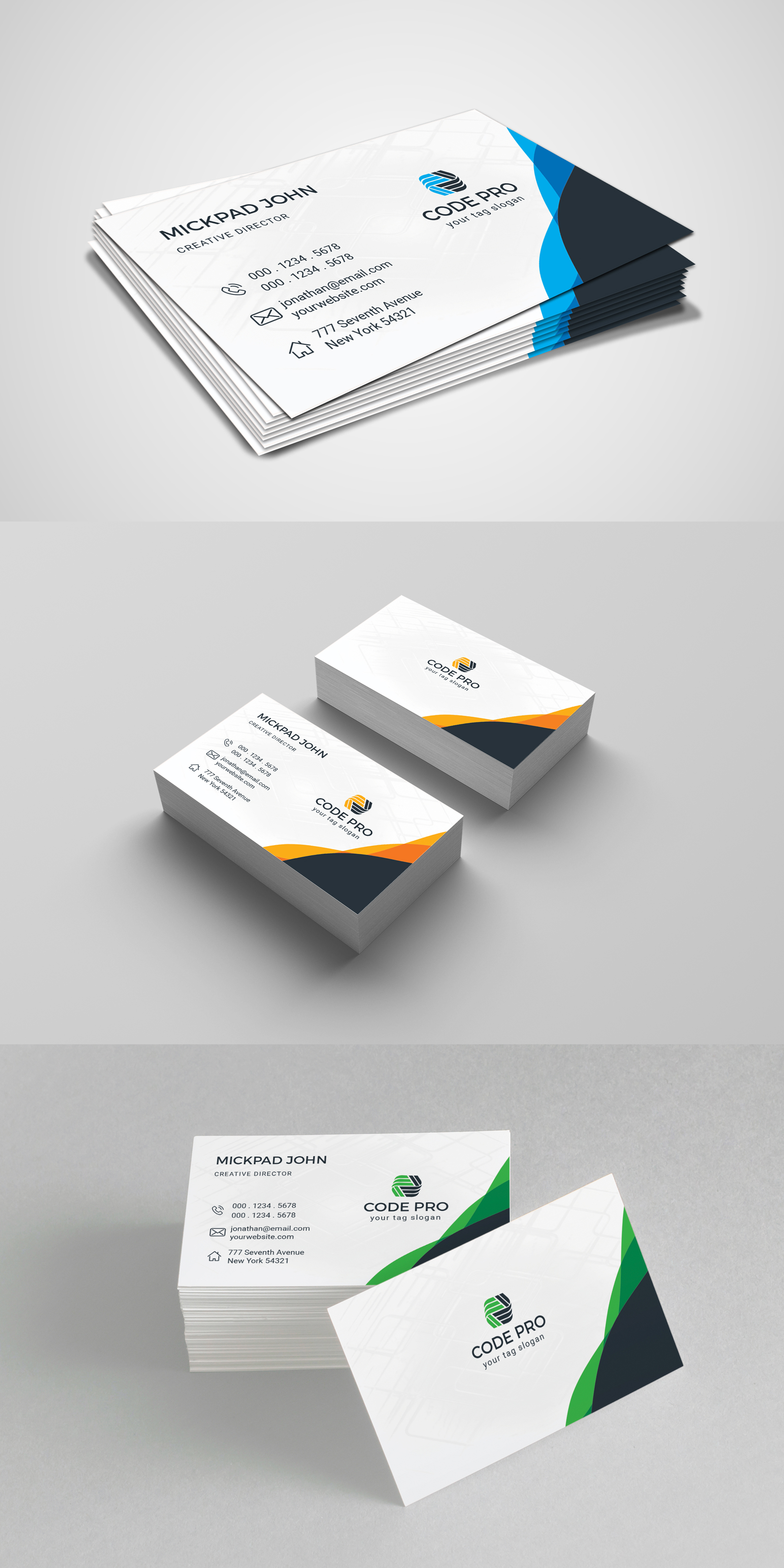 Code Pro Business Card vol. 1 Corporate Identity