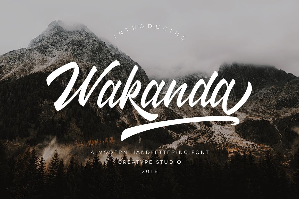 Wakanda Script Fonts