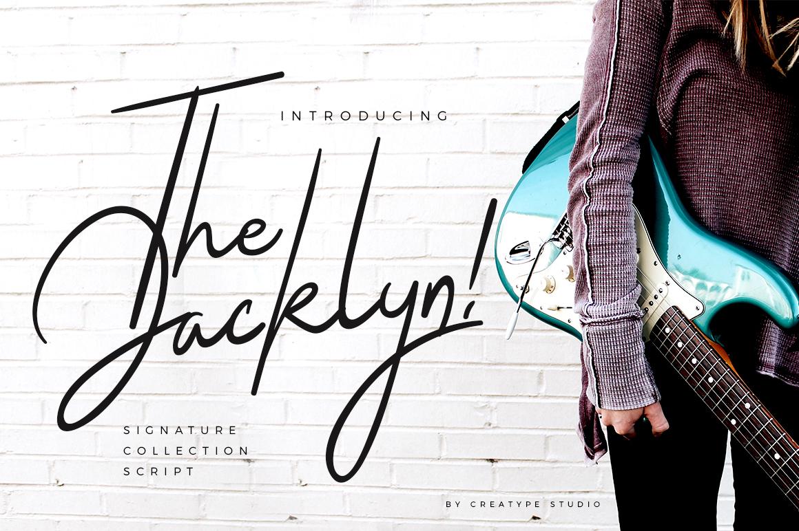 The Jacklyn Signature Fonts