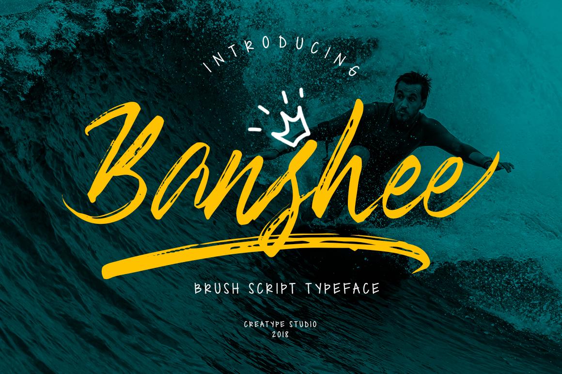 Banshee Brush Script Fonts