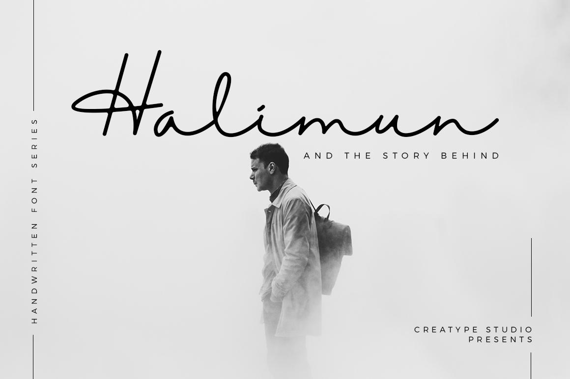 Halimun Script Style Creative Fonts