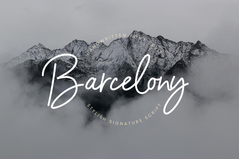 Barcelony Signature Fonts