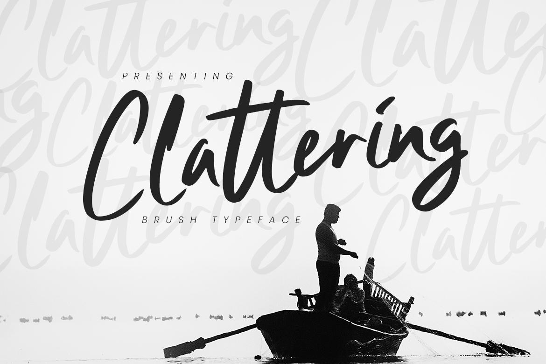 Clattering Brush Typeface Fonts