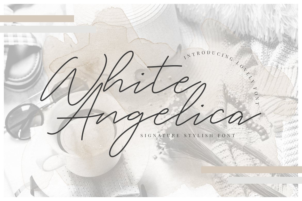 White Angelica Signature Fonts