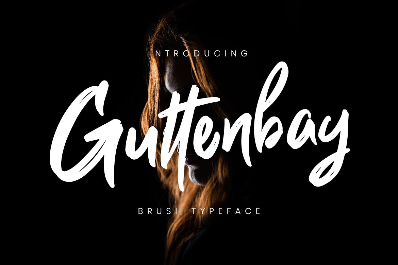 Guttenbay Brush Typeface Fonts