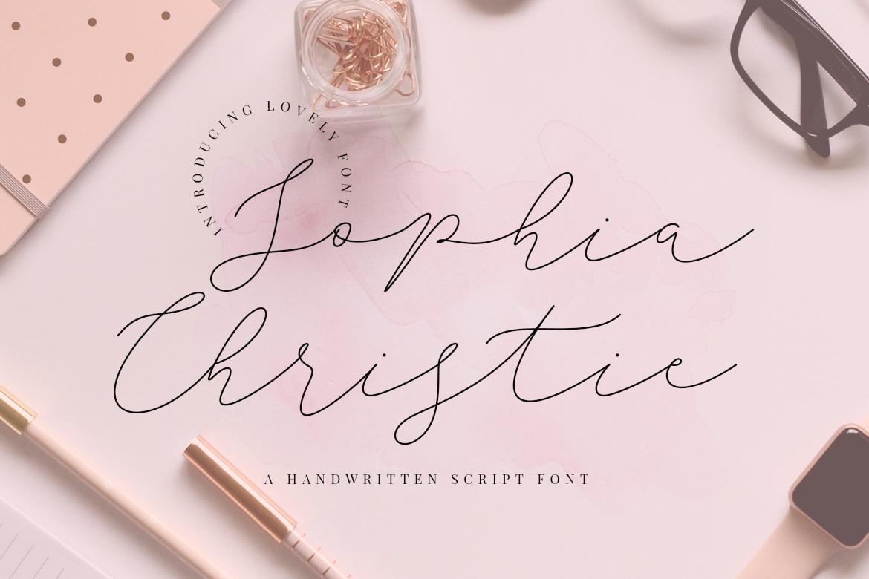 Sophia Christie Script Fonts
