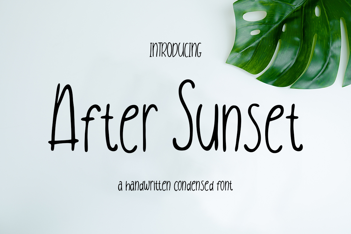 After Sunset Handwritten Condensed Fonts