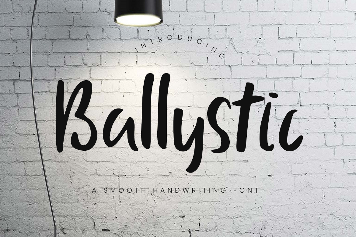 Ballystic Handwriting Typeface Fonts