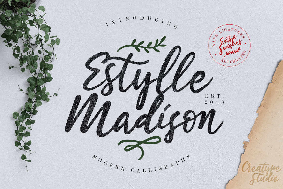 Estylle Madison Calligraphy Fonts
