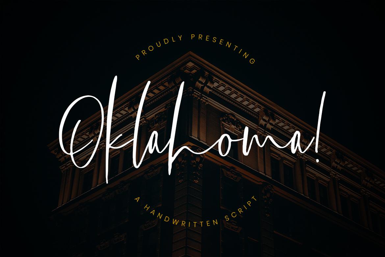 Oklahoma Handwritten Script Fonts
