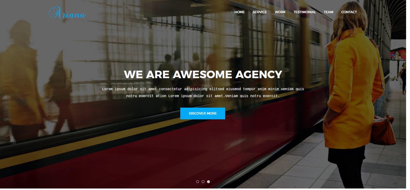 Ariana - Digital Agency One Page Joomla Template