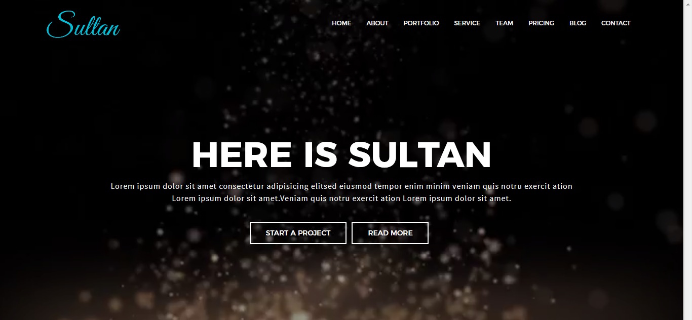 Sultan - One Page Joomla Template