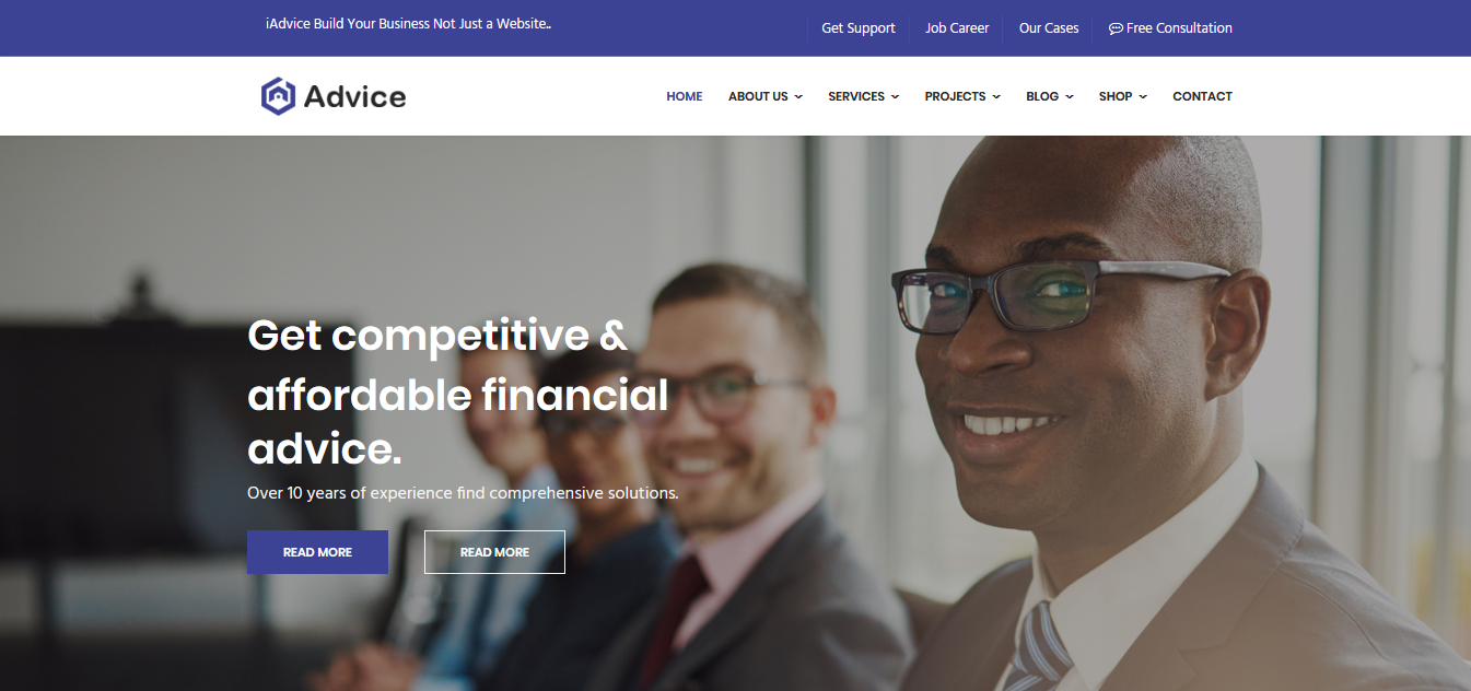 iAdvice - Business Consulting Joomla Template