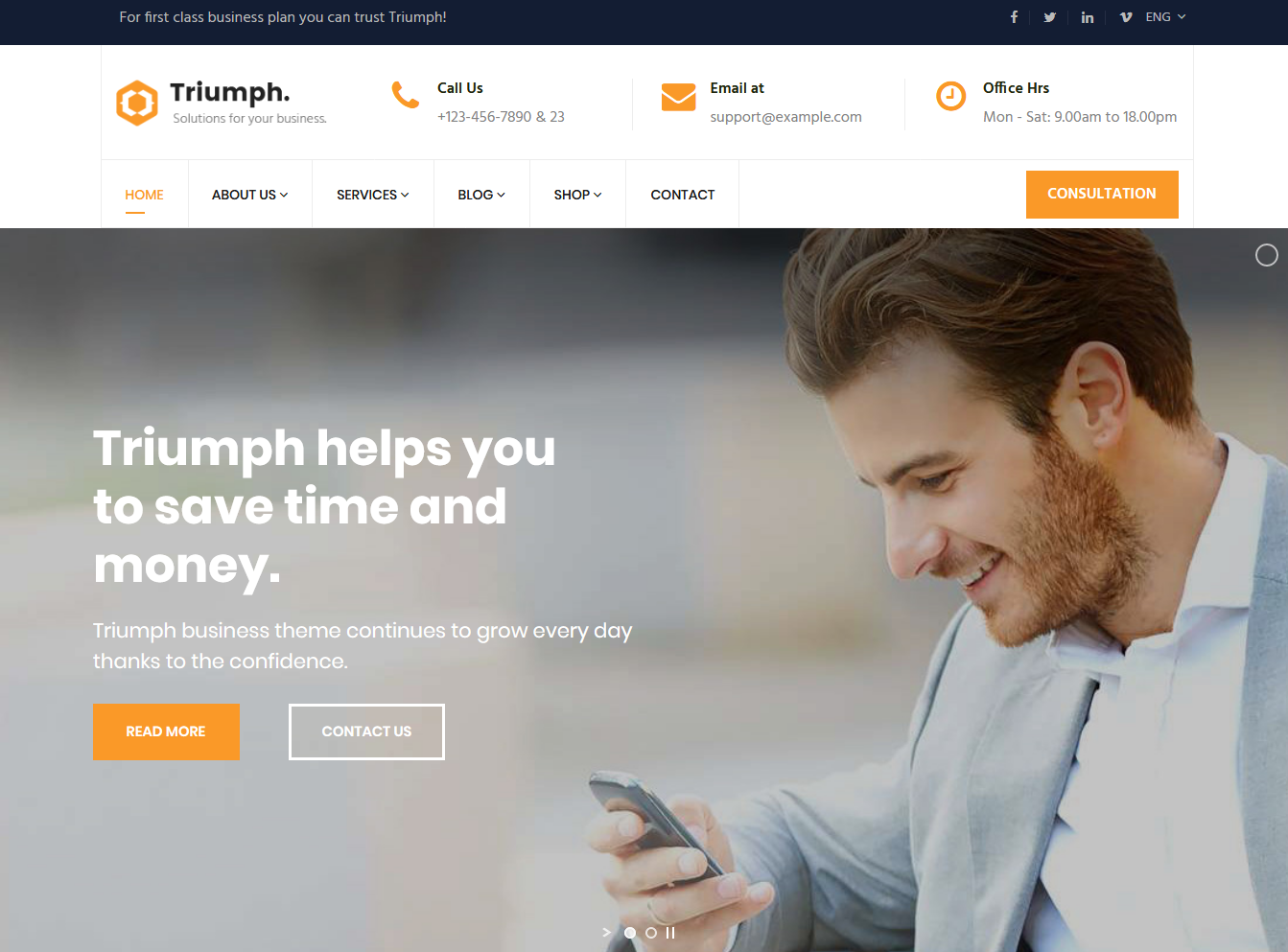 Triumph - Consulting and Professional Joomla Template