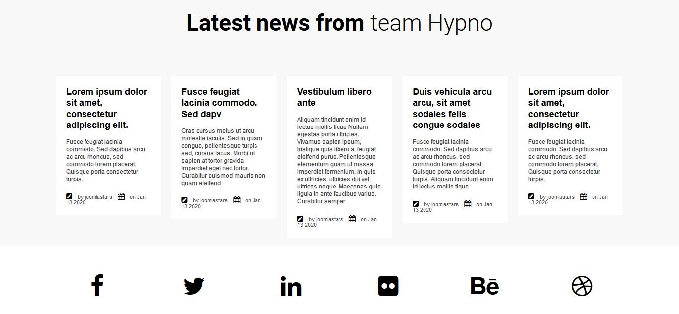 Hypno - Modern Responsive Joomla Template