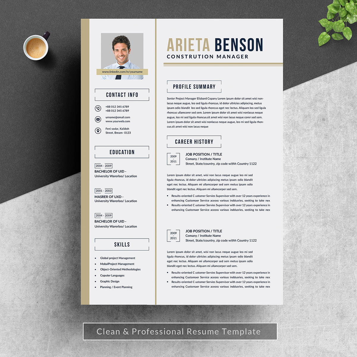 Arieta Benson Resume Template