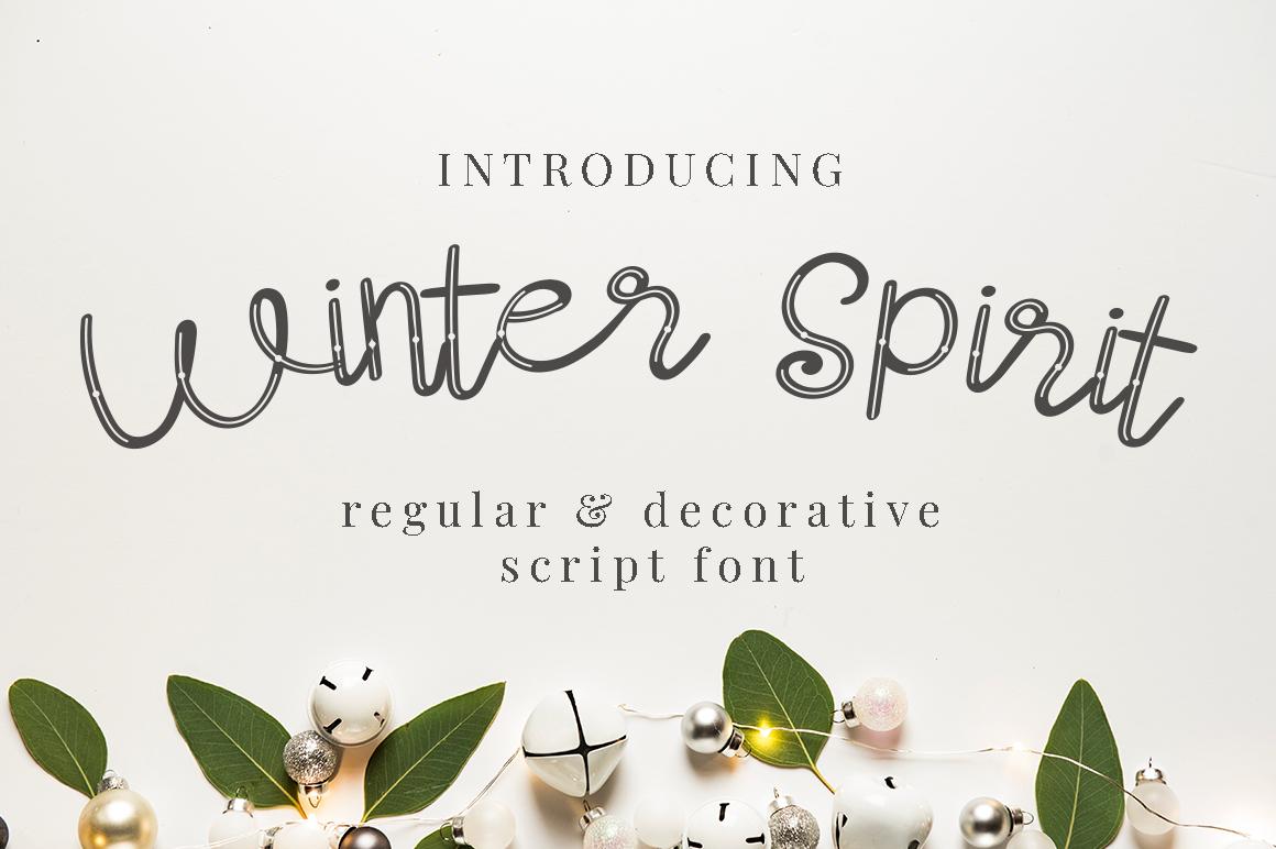 Winter Spirit Fonts