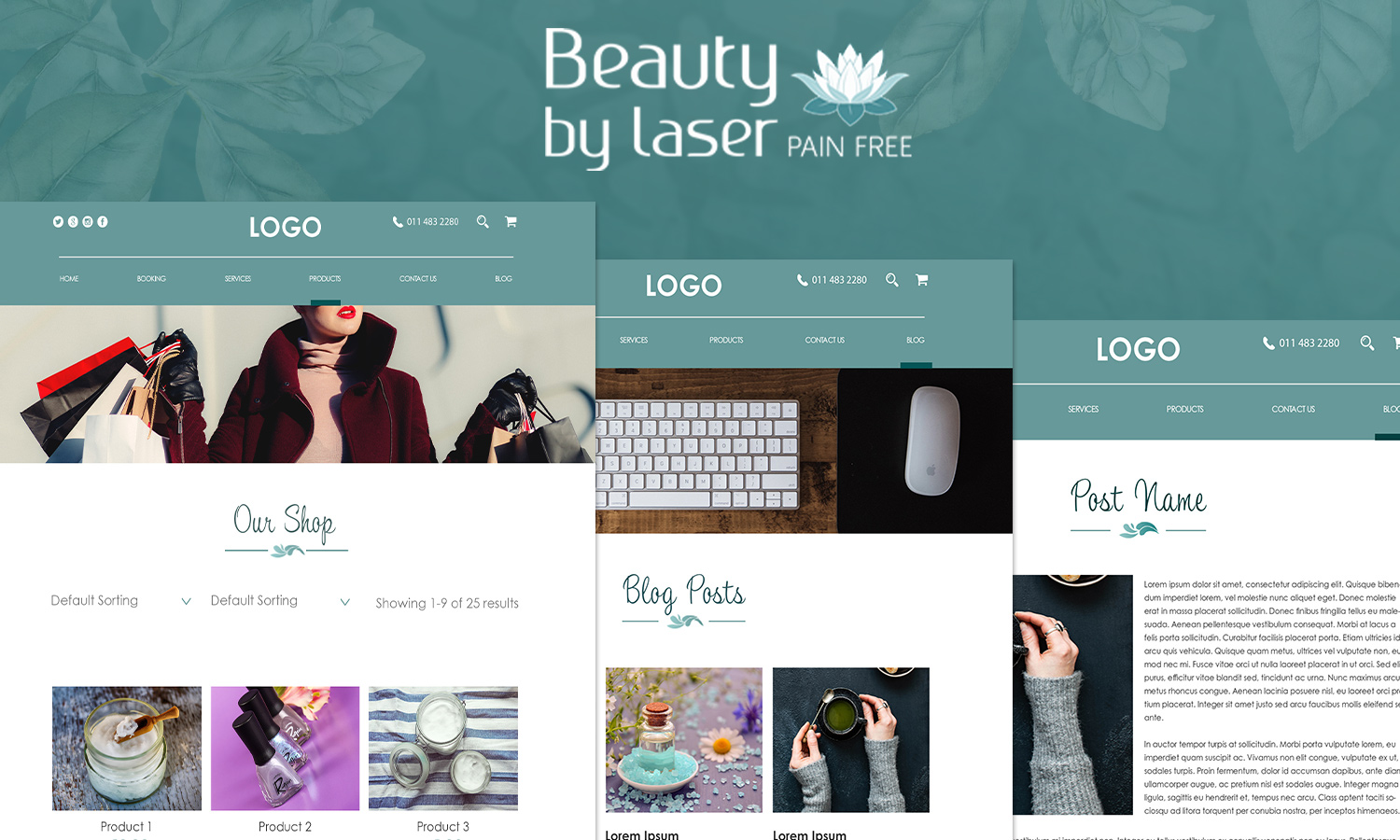 Beauty By Laser PSD Template
