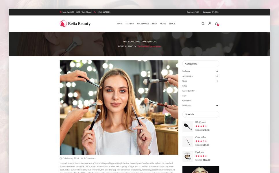 Bella Responsive OpenCart Template