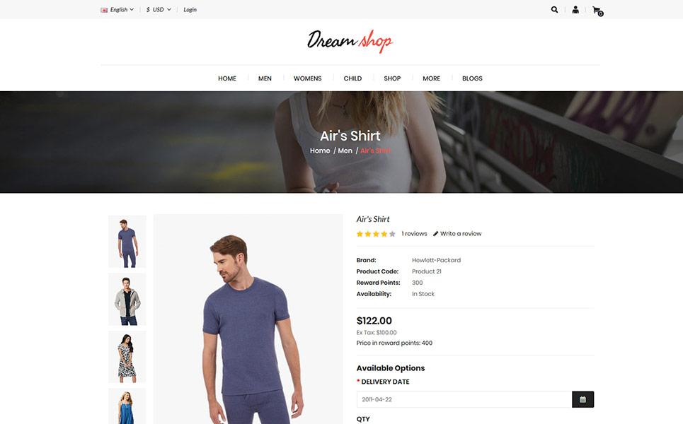 Dreamshop Multipurpose OpenCart Template