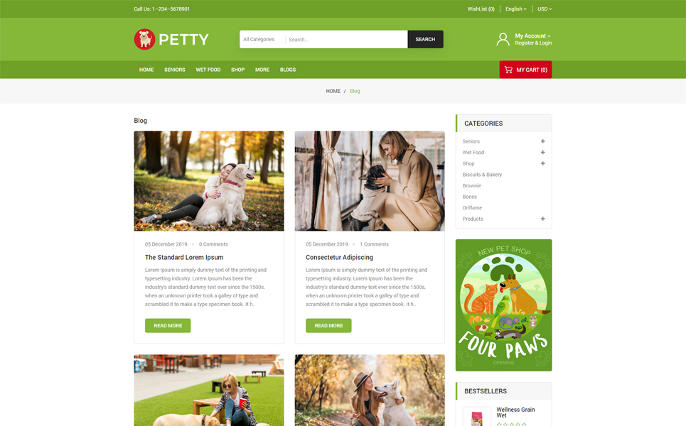 Petty OpenCart Template