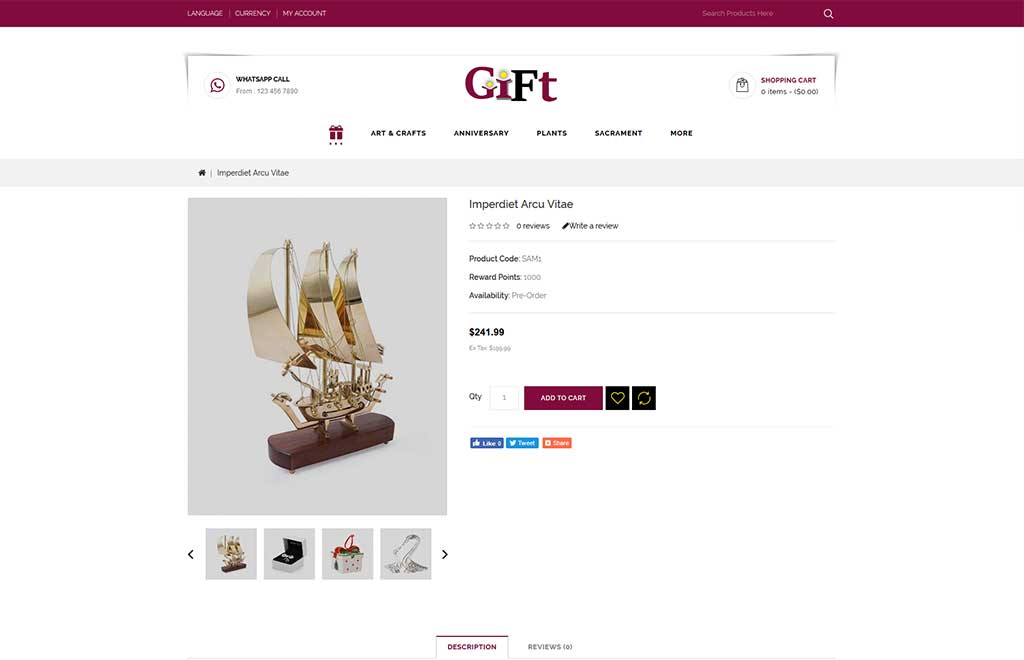 Gift - Online Store OpenCart Template