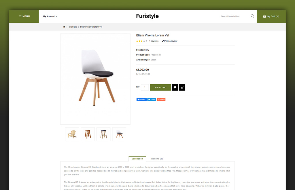 Furistyle - Furniture Store OpenCart Template