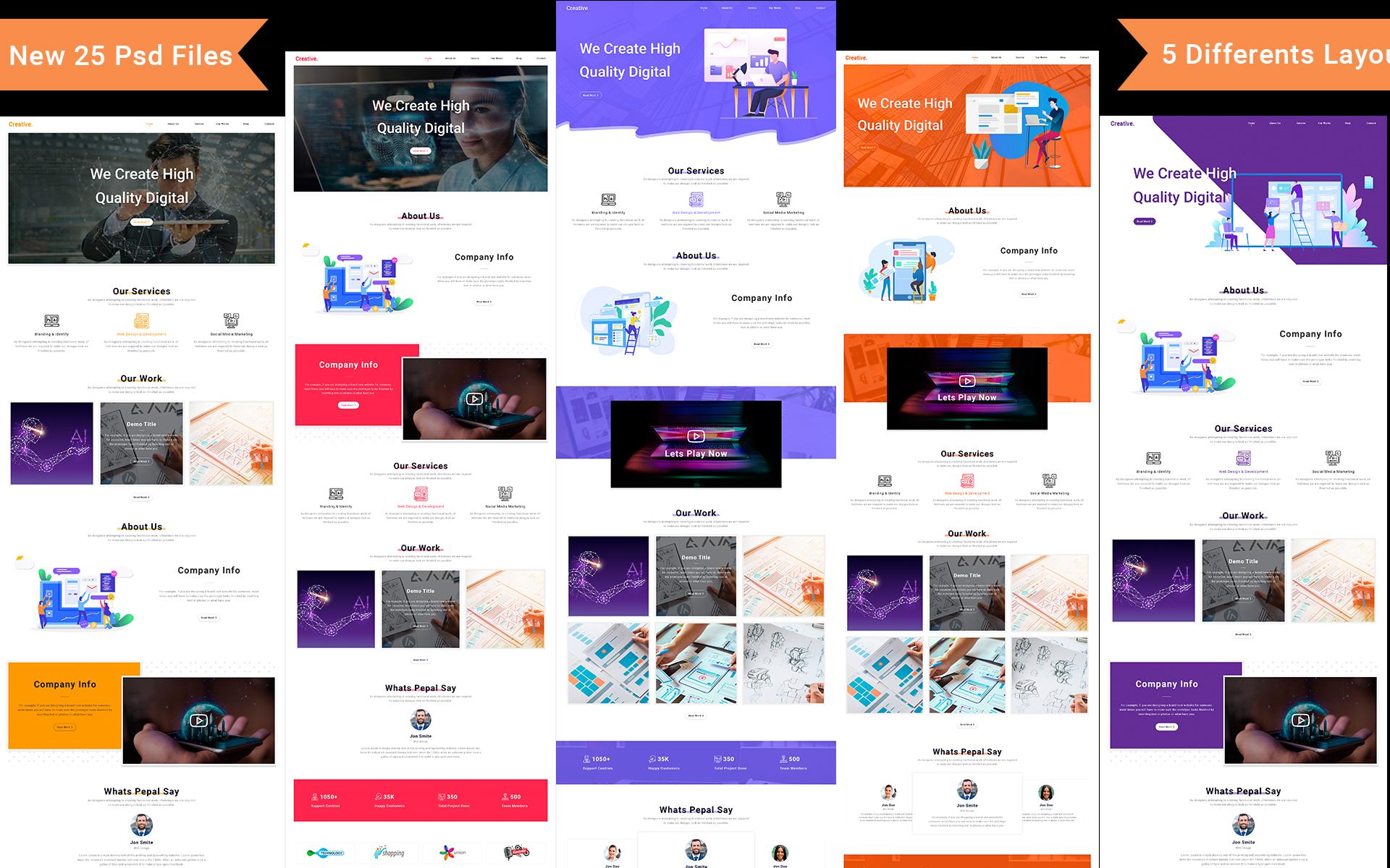 Creative Business PSD Template