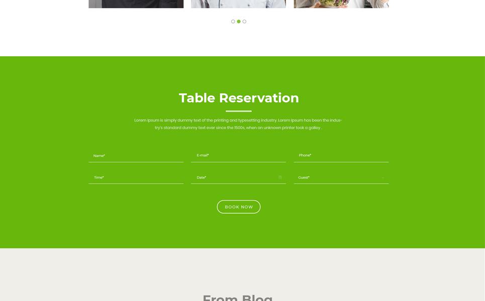 Milus Restaurant PSD Template