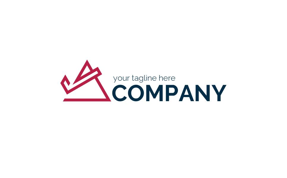 Triangle with an Arrow Logo Template