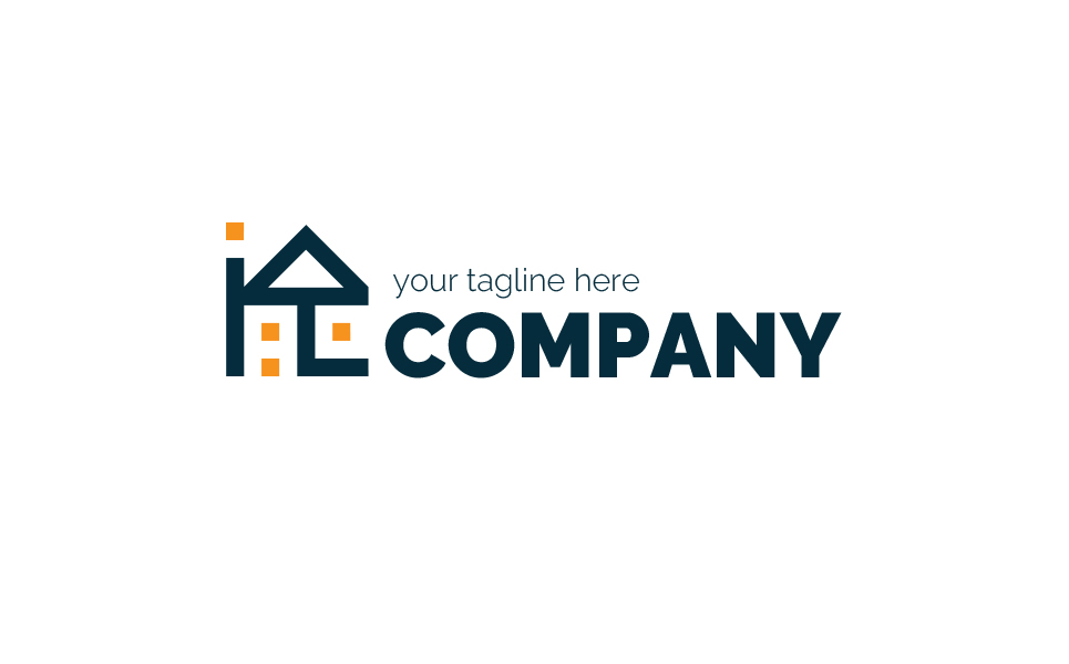 House and Arrow Logo Template