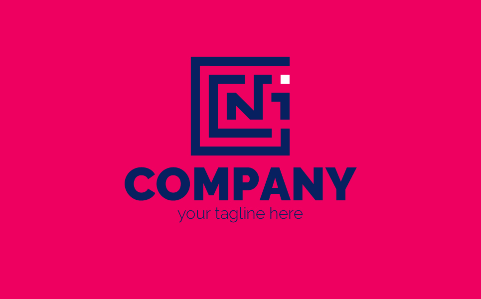 Design of the Letters №1 Logo Template