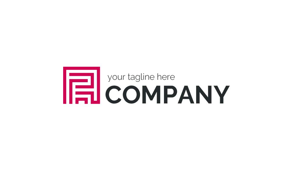 Maze R Logo Template