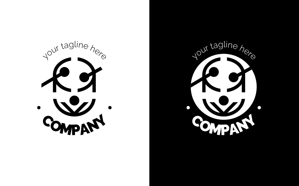 Drum and Acrobats Logo Template