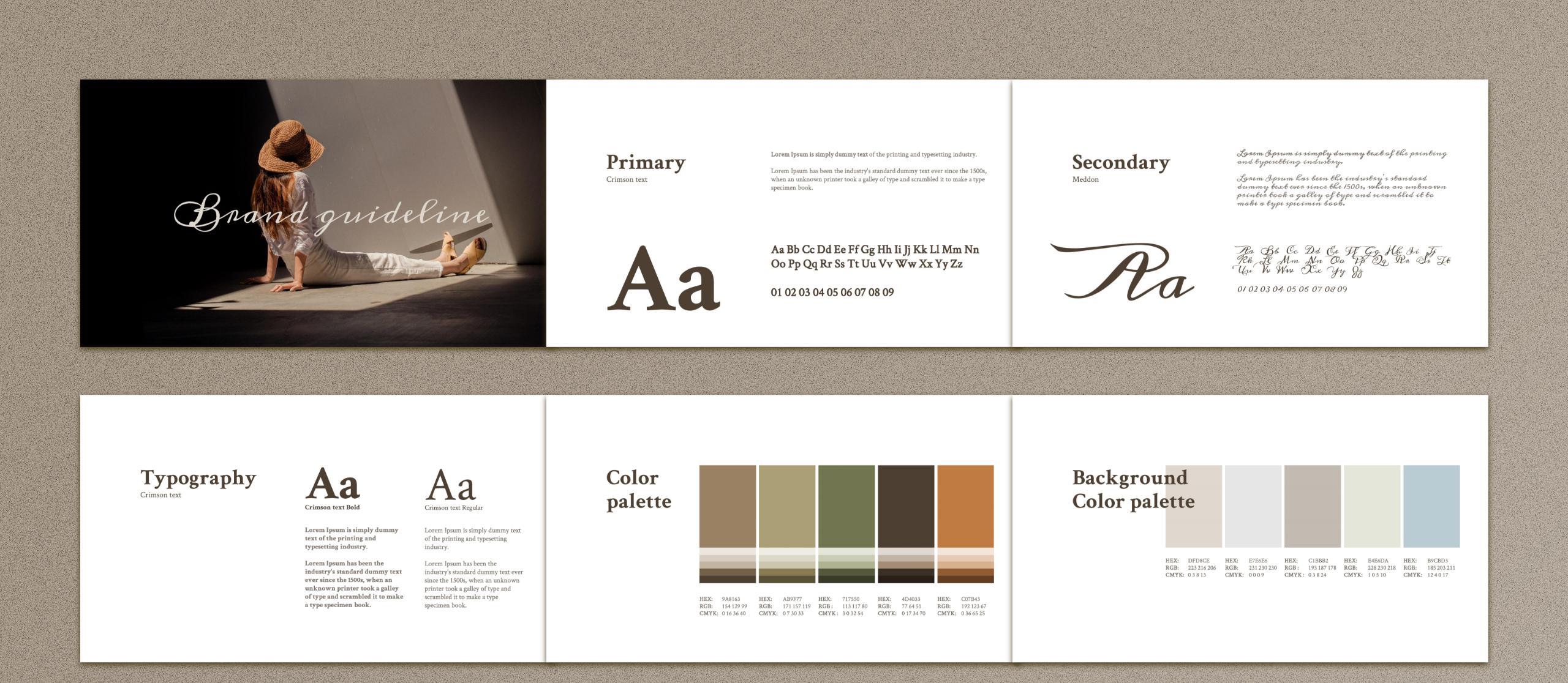 MERYLIN - Brand Guidlines PowerPoint Template