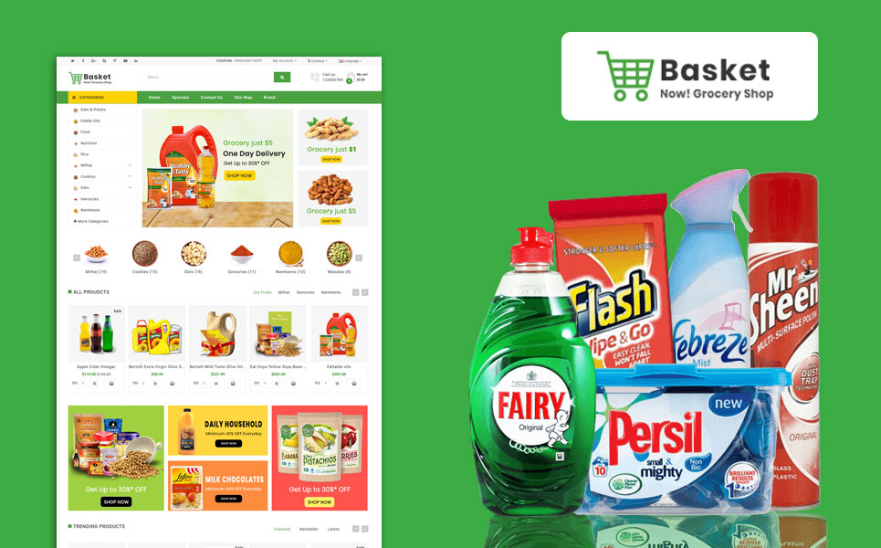 Basket Grocery OpenCart Template