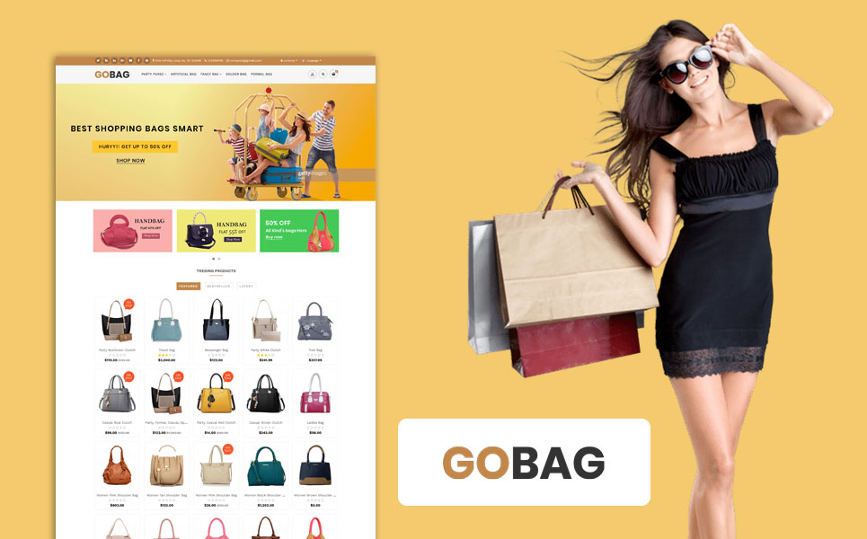 Gobag Responsive Website OpenCart Template