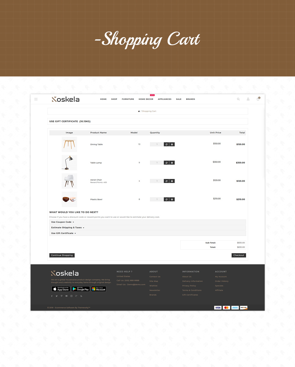 Koskela - Furniture Store OpenCart Template