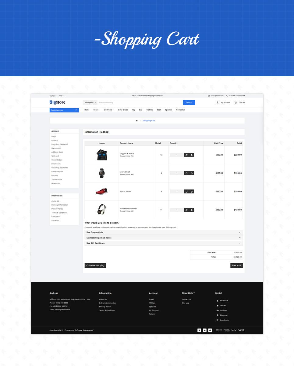 Big Store - Mega Electronics Shop OpenCart Template