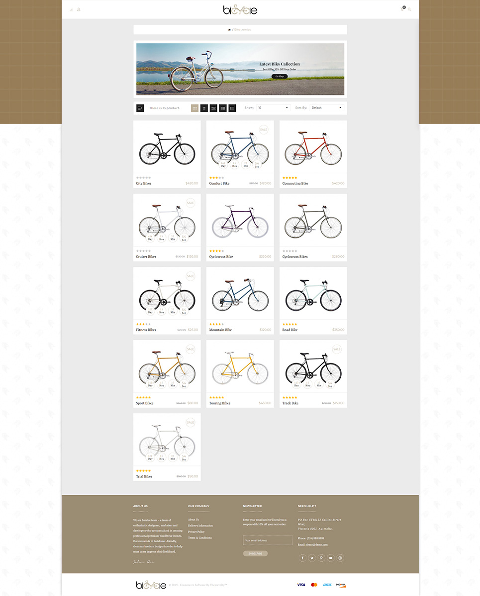 Bicycle - Green Ride Sport Store OpenCart Template