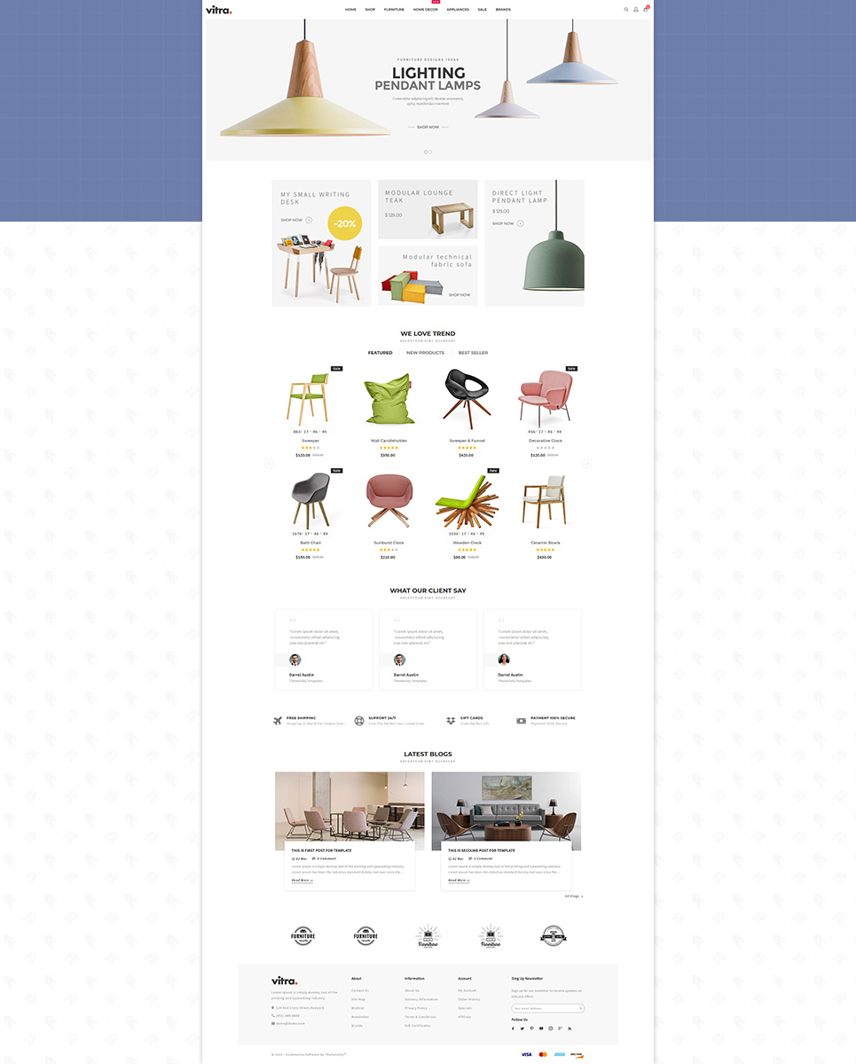 Vitra Furniture OpenCart Template