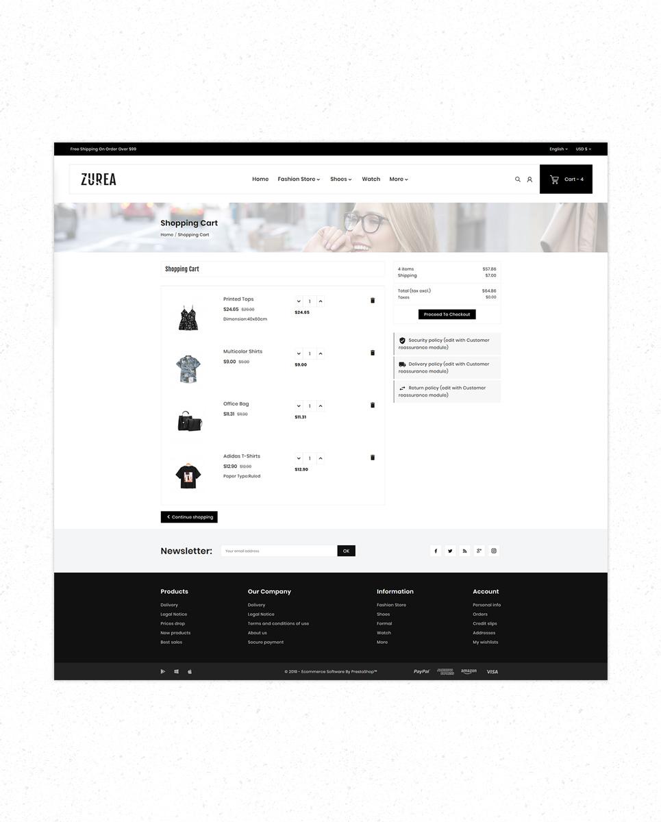 Zurea Fashion Store Premium PrestaShop Theme