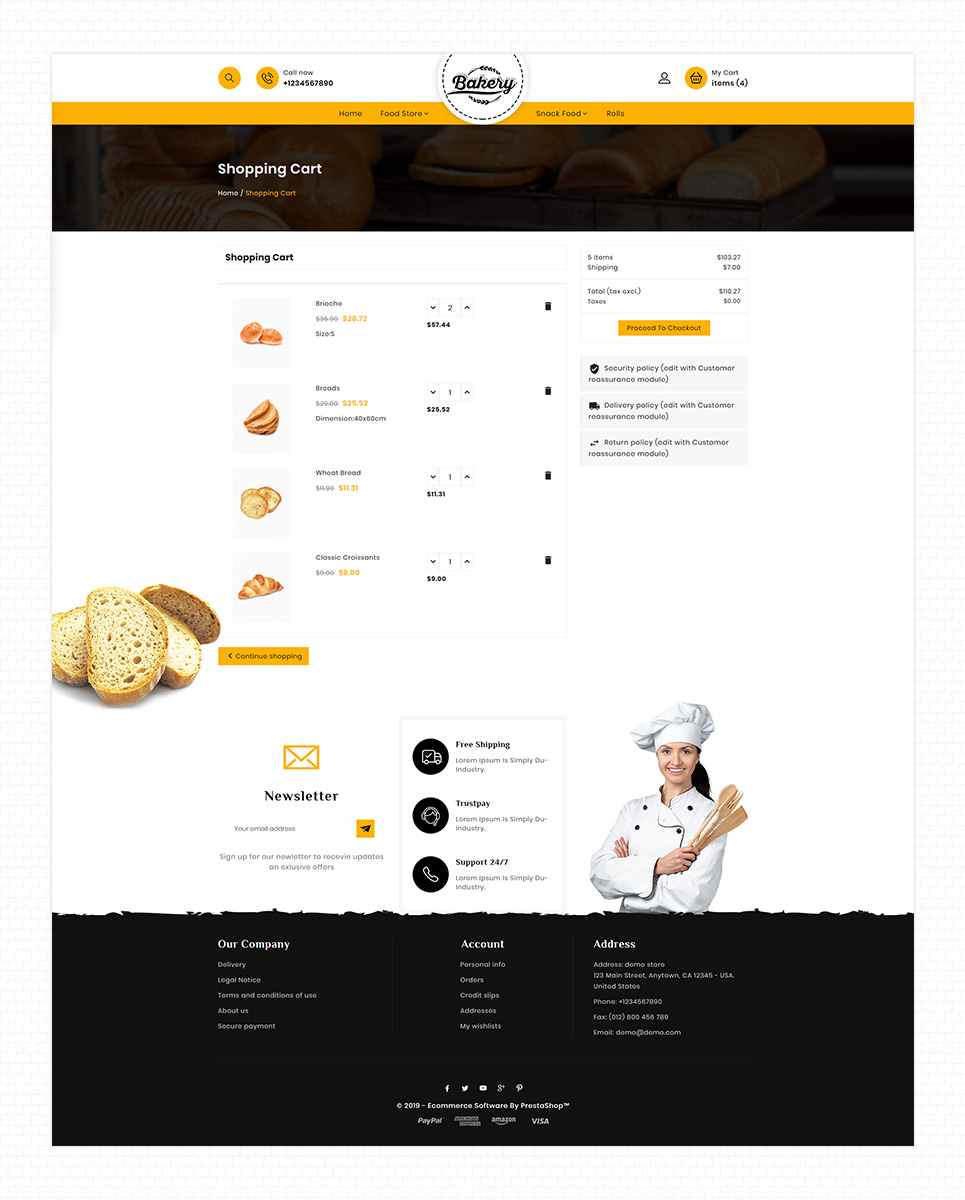 Bakery - The Bakery Bread PrestaShop Theme