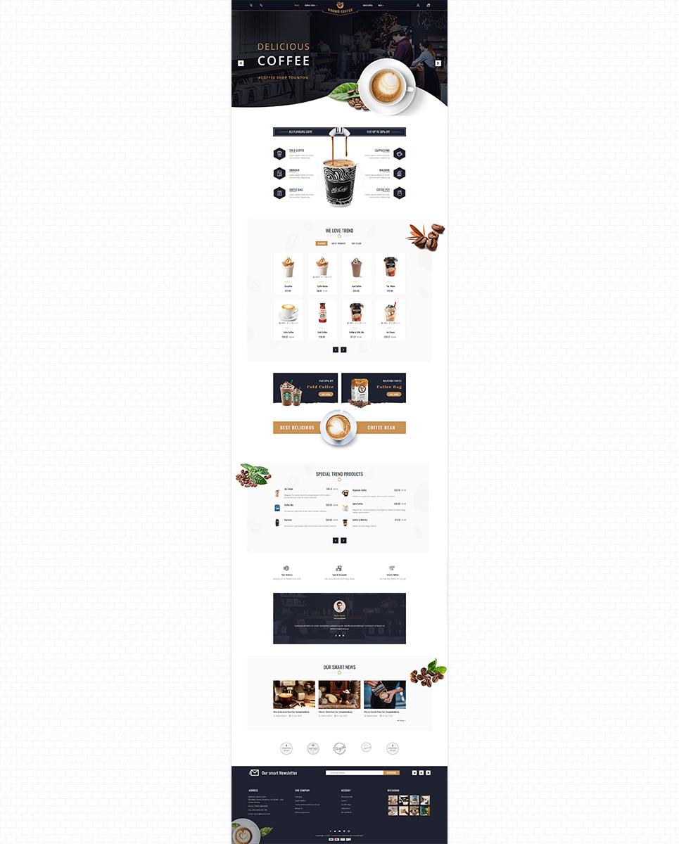 Brown Coffee - The Coffee PrestaShop Theme