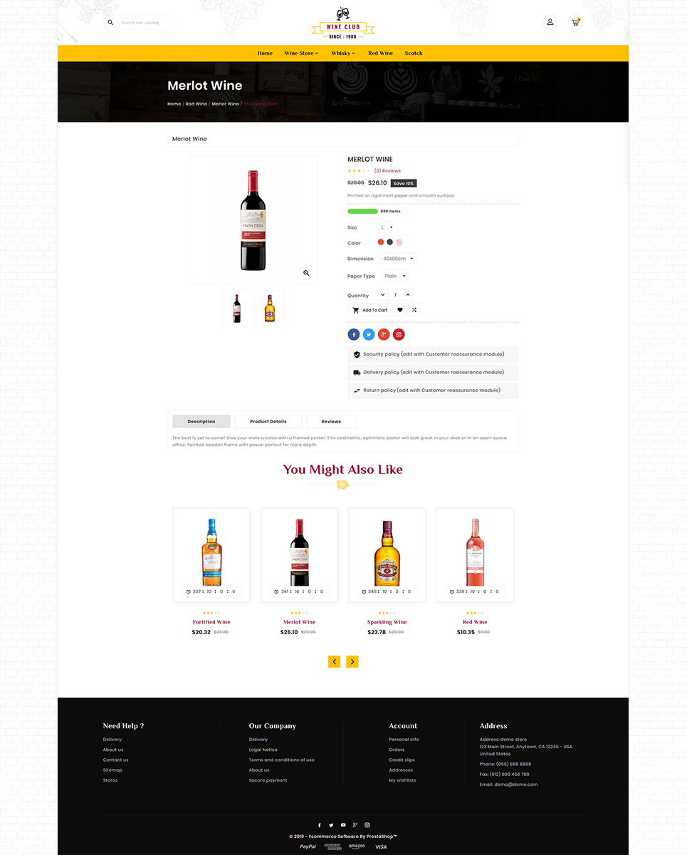 Wine Club - Wine Samuglar store PrestaShop Theme