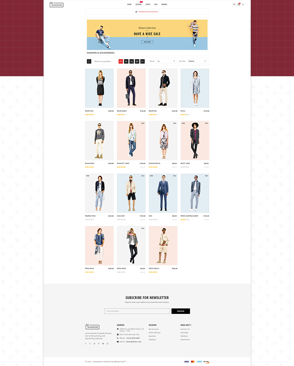 Wardrobe - Fashion and Kids Shop OpenCart Template